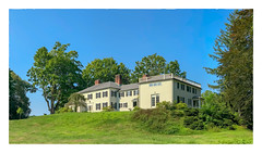 House on the Hill (Timothy Valentine) Tags: 2018 clichésaturday bench panorama trees large sky 0818 amesestate trusteesofreservations easton massachusetts unitedstates us