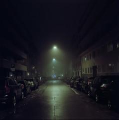 (Benjamin Skanke) Tags: yashica mat 124g portra 160 kodak analog film night fog