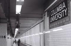 00283B1-R01-007 (thebiblioholic) Tags: bw film ilfordhp5plus crc columbiauniversity subway