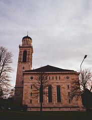 Reformed City Church (Bephep2010) Tags: 2019 kirche kodakgold minolta minoltax700 photoexif rmctokinaii24mm128 schweiz solothurn stadtkirche switzerland tokina winter x700 analog analogue chuch citychurch kantonsolothurn ch