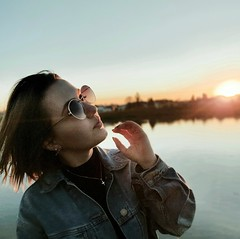 H (Lothbrok'sYen) Tags: lothbroksyen girl portrait shades cool river h young sun evening