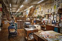 The Print Shop (Jim Nix / Nomadic Pursuits) Tags: nashville jimnix nomadicpursuits travel tennessee tn print printshop printing press skylum luminar
