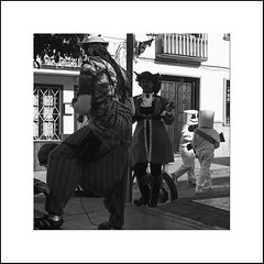 Aliens Amongst Us (Two Dragons - @robthomasphoto) Tags: andalucia ardales europe march spain culture heritage landscape landscapes spring ©robcolinthomas ©robthomasphotography ©robthomasphotography2019 monochrome blackandwhite scenery carnival festival