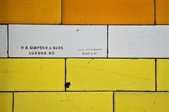 Made by.... (stavioni) Tags: london underground tube tiles tiling covent garden w b simpson