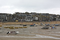 St Ives: The Wharf and Harbour Beach (Helgoland01) Tags: cornwall england uk stives hafen harbor port atlantik atlantic boot boat