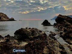 FELIZ MARTES DE NUBES AMIG@S. (CarmenCordero1949) Tags: cielo nubes agua rocas carmen