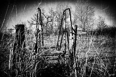 U Ranch Monument (J K German) Tags: monument marker oklahoma alfalfacounty steps blackandwhite ranch drumm major old forgotten