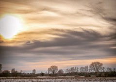 Rolling clouds (Dan Fleury Photos) Tags: 70200f4 a7iii sony bealpha field did road milltown weather storm sunset snow winter tree cans2s canada tyendinaga ontario landscape sky cloud clouds