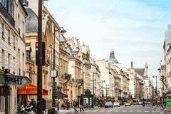 PARIS, FRANCE - May 7 : beautiful Street view of  Buildings around Paris city. Paris is the capital and most populous city of France. May 7, 2016, in Paris, France. (grjs20161) Tags: scenic scenery beautiful ancient antique oldfashioned landscapes culture vintage retrorevival history travel architecture romantic ornate landmark tourism historic city europe france paris street destination famous house monument building