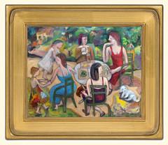 Jardin du Luxembourg Final Version 2 (danielborisheifetz) Tags: art painting oil oilpainting female
