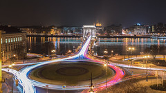 Lightpainting Chain Bridge (BenedekM) Tags: hungary budapest pest city cityscape panorama timelapse architecture buildings old oldtown danube river cars lights lamps nightsky nightscape nightphotography longexposure nikond3200 d3200 nikkor50mmf18g