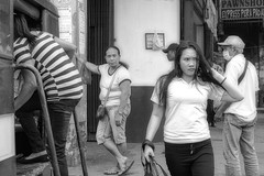 Malfunction (Beegee49) Tags: street pedestrian show filipina monochrome black white happy planet bw sony a6000 luminar bacolod city philippines asia