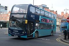 ANE 7556 @ Newcastle-upon-Tyne Eldon Square/Haymarket bus station (ianjpoole) Tags: arriva north east alexander dennis enviro 400 sn15llg 7556 working max route x14 newcastleupontyne haymarket bus station three wheat heads thropton