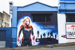 Captain Marvel (Leighton Wallis) Tags: sony alpha a7r mirrorless ilce7r 55mm f18 emount 1635mm f40 brisbane qld queensland australia mcu marvel comic superhero captainmarvel mural city