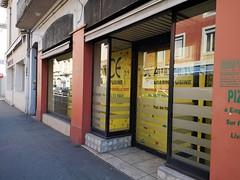 Coté Rue , Grande surface ! rien a faire, ça veut pas (laphotoduxix) Tags: drome 26 façade commerce ancien désertification travaux