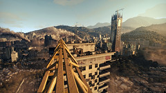 Dying Light (screenreel) Tags: graphics gpu pc videogame nature grass tree green apocalypse zombie horde skyscraper yellow autumn sky sun clouds leaf ground road mystic detective day wood forest railroad river mountains horizon light wire bridge metal lampion building abandoned electricity glow blur camera angle shot particles stones blue smoke city antenna window door balcony roof height parkour