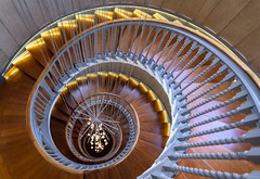 Downward Spiral (ttarpd) Tags: london england uk greatbritain gb britain capital cityscape ambrose heal heals healsbuilding cecil brewer spiral staircase 1916 helix lights bocci chandelier tottenhamcourtroad architecture interior