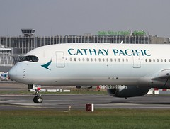 Cathay Pacific                                            Airbus A350                                    B-LRF (Flame1958) Tags: 8734 cathaypacificairlines cathaypacificairways cathaypacific cathaypacifica350 cathaya350 cathay cathypacific airbusa350 airbus a350 blrf dub eidw dublinairport 010419 0419 2019 hongkong