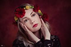 Red Gerberas (Hajeve Pictures) Tags: fineart portraitphotography womanportrait flowers gerbera