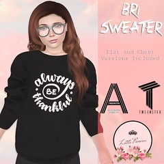 Bri Sweater - Always be Thankful - AD (AmaraRevven) Tags: second life tween tweenster kids little princess new fitted mesh unisex boys girls release event boutique explorers