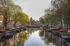Amsterdam ,Holland. (By Hayan) Tags: amsterdam holland street river travel reflection
