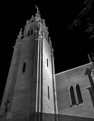 St Augustine (rob_luna) Tags: sony a7r3 a7riii 35mm landscape zeiss long exposure culver city california los angeles church catholic black white night st augustine dogwood52 dogwood2019 dogwoodweek3 lights full frame structure building