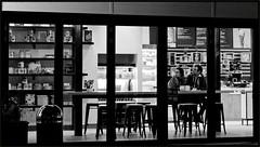 2019/037: The Milk Bar Date (Rex Block) Tags: 2019037themilkbardate nikon d750 dslr 50mm f18g dc washington milk bar date sign neon couple window project365 365the2019edition 3652019 day37365 06feb19 monochrome bw