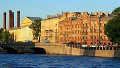 St Petersburg Waterfront (3) (Mahmoud R Maheri) Tags: stpetersburg saintpetersburg russia waterfront river buildings oldbuildings water sky daylight