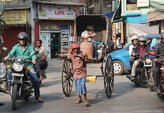 Rickshaw driver, Kolkata (Calcutta), India (Michael Layefsky) Tags: rickshaw driver kolkata calcutta india traffic