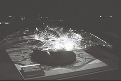 Manta Ship - Filming Model (goodfella2459) Tags: nikonf4 afnikkor50mmf14dlens kodaktrix400 35mm blackandwhite film analog sydney jamescameron jamescameronchallengingthedeep history nationalmaritimemuseum theabyss cinema bwfp manilovefilm