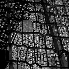 Harpa building detail, Reykjavík (Jano_Calvo) Tags: iceland reykiavik balckandwhite harpa building architecture glass front basaltic sony a6000 ilce mirrorless 1650mm alpha