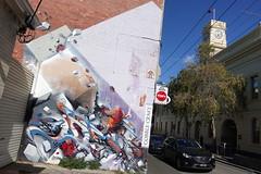 does invader (Luna Park) Tags: melbourne vic australia graffiti production mural lunapark does invader spaceinvader