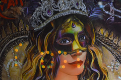 Masked for Mardi Gras (radargeek) Tags: lakecharles 2019 march la louisiana mardigras mask painting reflection crown