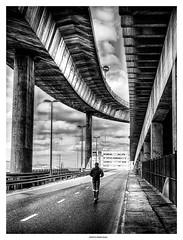Under the Highway ... (michel di Méglio) Tags: marseille olympus zuiko rue street streetview bw silverefexpro noiretblanc monochrome urbain urban ville city