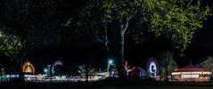 10th street traveling ride carnival (pbo31) Tags: eastbay alamedacounty bayarea california nikon d810 color night dark black april 2019 boury pbo31 oakland butler amuesments fair carnival ride lightstream spinning motion traveling panorama large stitched panoramic