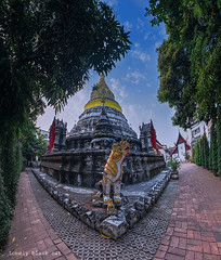 temple (Lonely black cat) Tags: temple outdoor панорама beautiful thailand photography panoramic nature old ancient cityscape chiangmai travel landscape nikon oldtown nikond600 sky blue небо дерева деревья visualart город місто ilovethailand