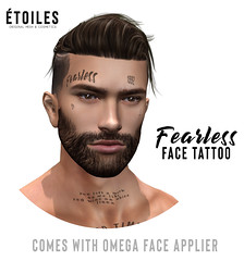 Etoiles. Fearless Face tattoo vendor (Étoiles) Tags: second life designer event releases bodyfy tattoo face omega applier