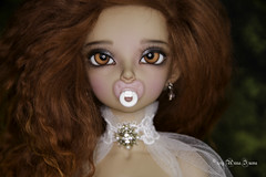 Pacifier msd (AnnaZu) Tags: minifee pacifier pink white commissions doll fairyland balljointed bjd abjd polymer clay
