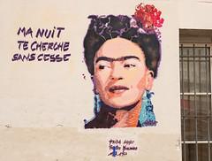 Frida Kahlo rue du Retrait Paris 20e (michel bourgouin) Tags: paris 20e ménilmontant fridakahlo pochoirs canoneos6d2 streetart ratrait