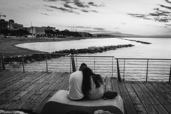 Love (SDB79) Tags: biancoenero termoli amore love tramonto molise mare street