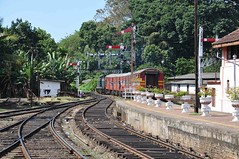 Class W3 and train leaving Kandy (TrainsandTravel) Tags: srilanka railways broadgauge breitspur voielarge 5ft6in 1676mm dieseltrains dieselzüge trainsdiesel w3 bb kandy