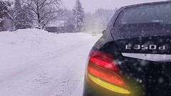 All is white (synecto) Tags: mercedes w213 snow e350d bavaria germany winter trunk police