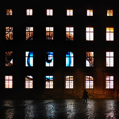 324 (dijopic) Tags: architecture atmosphere building windows creativ dark darkness night person light mood outdoor silhouette rain urban view sony dijopic