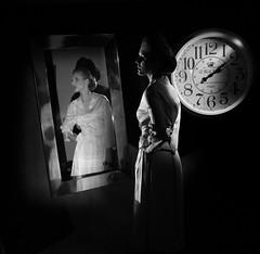 Time (Pawel Wietecha) Tags: time clock girl woman lady model studio light new art emotions portrait eyes look face hair pretty beauty glamour people makeup style dark pawel wietecha femme fille dame beauté belleza dama niña bellezza signora ragazza belle blackandwhite bw mono monochrome blanc weis schwarz noir black white blackwhite mirror reflection