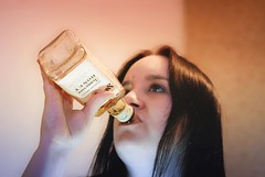 Having a drink (essex_photography) Tags: drink jd model modelling whiskey whisky sexy girl babe pose bottle