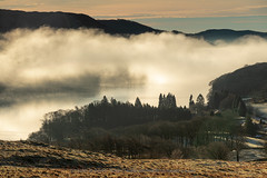 Mist over Oxen House Bay, Coniston Water, from Kelly Hall Tarn, Cumbria (john@johnrobertsimages.co.uk) Tags: england winter tarn lakedistrict coniston cumbria outdoor lake cumbrian 3x2 scenic kellyhalltarn beautiful britain travel lakes trekking vacation tourism walking season europe uk torverbackcommon attractive hiking picturesque unitedkingdom gb