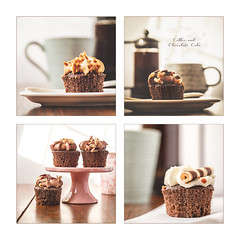 Coffee and Cupcakes (Mandy Willard) Tags: coffee cup mug cake cupcake chocolate cakestand pink brown frosting cafetiere