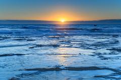 The Blues Sunrise Seascape (Merrillie) Tags: daybreak baths sunrise newcastle water nsw newsouthwales sea earlymorning morning dawn seascape ocean pumphouse seapool swimming landscape swimmingpool sky waterscape nature australia outdoors newcastlebaths