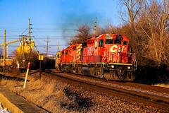 Heavy Metal (BravoDelta1999) Tags: canadianpacific cp rail railway milwaukeeroad milw railroad unionpacific up chicagoandnorthwestern cnw milwaukeesubdivision desplaines norma interlocking emd sd402 5878 5871 gp382 4431 288 manifest train