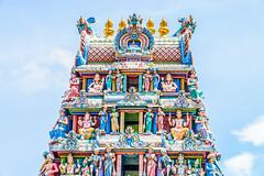 Indian hindu temple (Geetam Sarojwal) Tags: architecture art asian beautiful building carving chinatown color colorful detail god goddess hindu hinduism holy indian landmark mariamman religion religious sculpture singapore sri statue temple